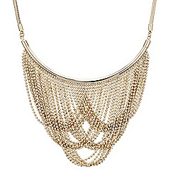 Mood - Gold ball chain drape necklace