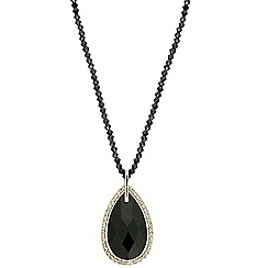 Mood - Jet teardrop beaded chain necklace