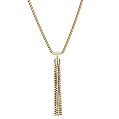 Mood - Diamante crystal long tassel drop necklace