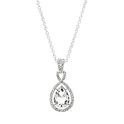 Mood - Teardrop crystal twist surround necklace