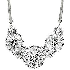 Mood - Triple flower facet bead surround necklace