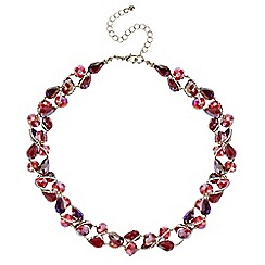 Mood - Red tonal bead twist necklace