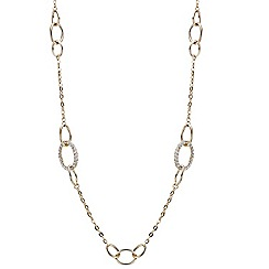 Mood - Crystal embellished oval link long necklace