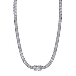 Mood - Silver crystal pave magnetic mesh necklace
