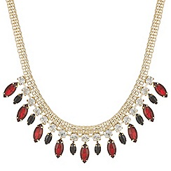Mood - Online exclusive red navette drop necklace