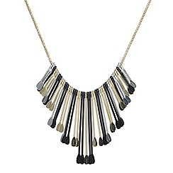 Mood - Multicoloured graduated paddle drop necklace