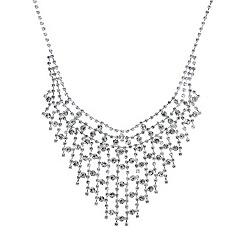 Mood - Diamante lattice crystal embellished necklace