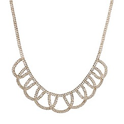 Mood - Diamante double row embellished loop necklace