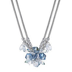 Mood - Glass flower crystal statement necklace