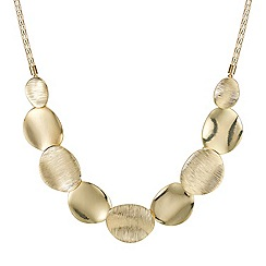 Mood - Polished and textured round disc necklace