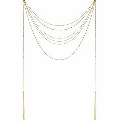 Mood - Gold twist rope chain and tassel necklace
