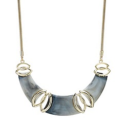 Mood - Grey marbleized triple panel necklace