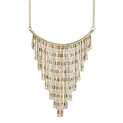 Mood - Triple tone statement shower drop necklace