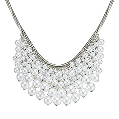 Mood - Graduated pearl cluster statement necklace