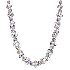 Mood - Purple tonal facet bead twist necklace