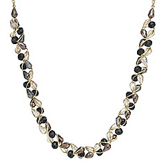 Mood - Jet tonal facet bead twist necklace