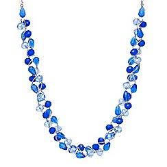 Mood - Blue tonal facet bead twist necklace