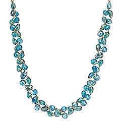 Mood - Green tonal facet bead twist necklace
