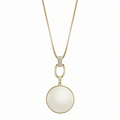 Mood - Mother of pearl disc drop long necklace