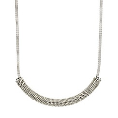 Mood - Embellished popcorn style bar and mesh chain necklace