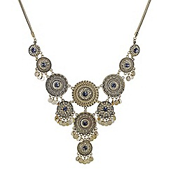 Mood - Multi coin statement collar necklace