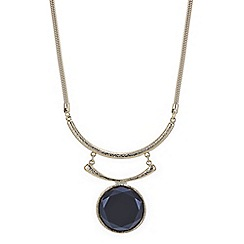 Mood - Onyx disc double torque necklace