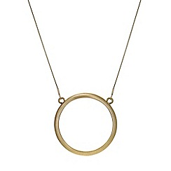 Mood - Gold textured open ring pendant necklace