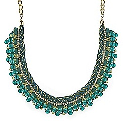 Mood - Green cord plait beaded collar necklace