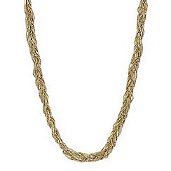 Mood - Gold bead plaited twist necklace