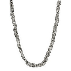 Mood - Silver bead plaited twist necklace