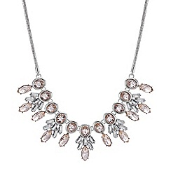 Mood - Pink crystal cluster statement necklace