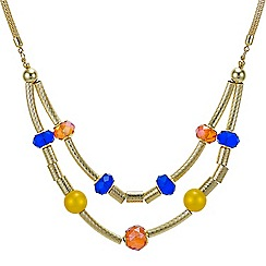 Mood - Beaded tube two row necklace