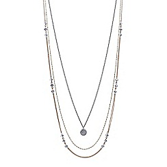 Mood - Multi tone crystal disc multi row necklace