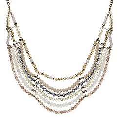 Mood - Statement beaded bib necklace