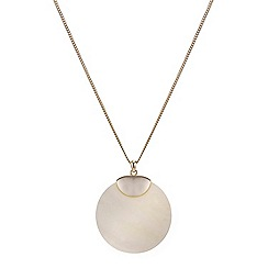 Mood - Shell disc pendant necklace