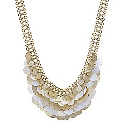 Mood - Shell layered disc statement necklace