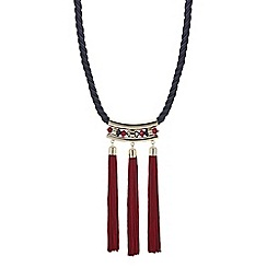 Mood - Multi tassel rope statement necklace