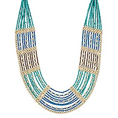 Mood - Green beaded bib necklace