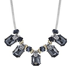 Mood - Grey crystal rectangle allway necklace