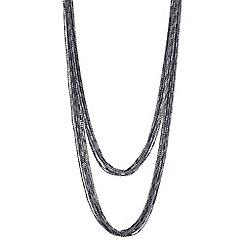 Mood - Silver chain multi row necklace