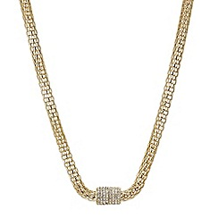 Mood - Gold mesh crystal magnetic necklace