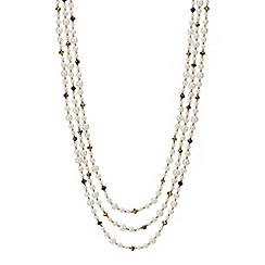 Mood - Multi row pearl and bead necklace