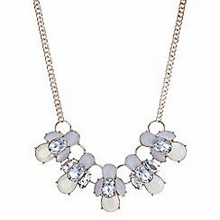 Mood - Rose gold crackle crystal cluster necklace