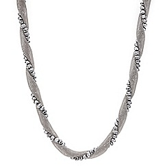 Mood - Silver bead mesh twist necklace