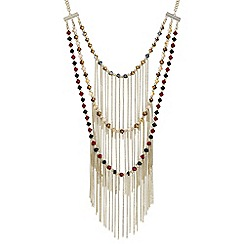 Mood - Triple row beaded fringe necklace