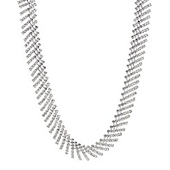 Mood - Silver crystal stick all way necklace