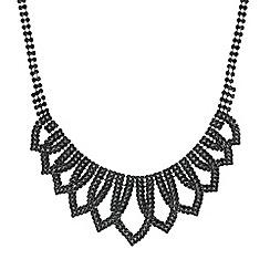 Mood - Jet crystal loop necklace