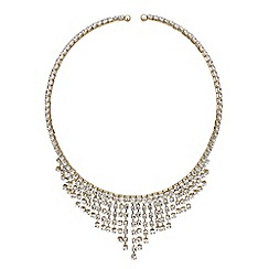 Mood - Gold diamante shower choker necklace