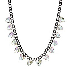 Mood - Multi colour crystal pyramid necklace