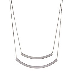 Mood - Silver double row bar necklace